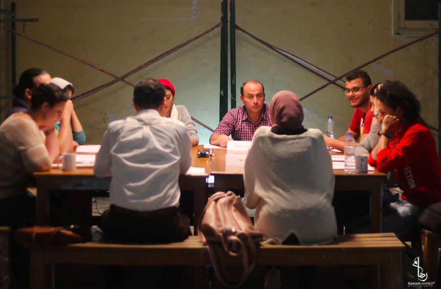 A group of citizens around a table