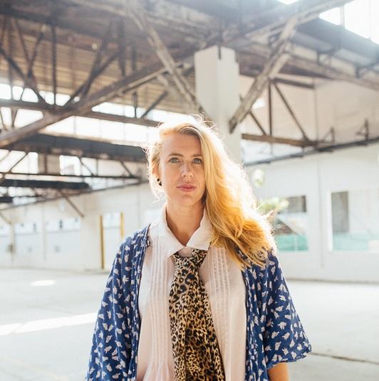 Janneke in a gallery space
